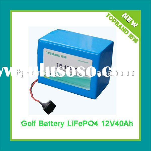 Lithium Battery 12V 40Ah used for Remote Electric Golf Trolley