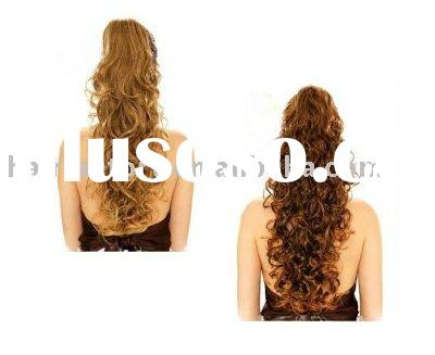 Long Curly Clip Add on Hair Piece Pony tail Extension,Fashion Hairpieces