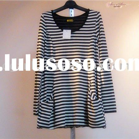 Long Sleeve Stripe Blouse