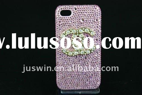 Lovely hot selling bling glitter crystal diamond Rhinestone hard plastic case covers for iPhone 4 4G