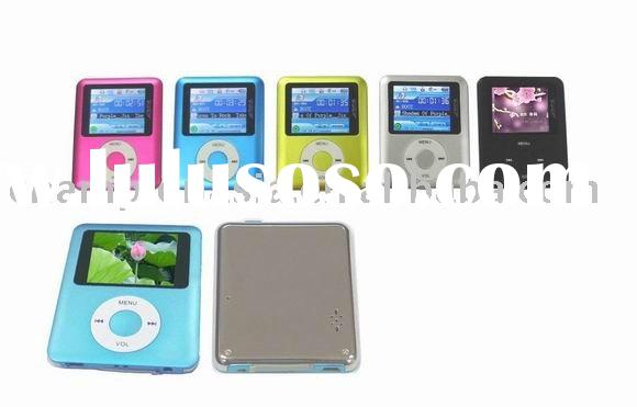 MP4 player with Built-in speaker and mini SD memory card slot Fashionable color 2.0-inch TFT screen