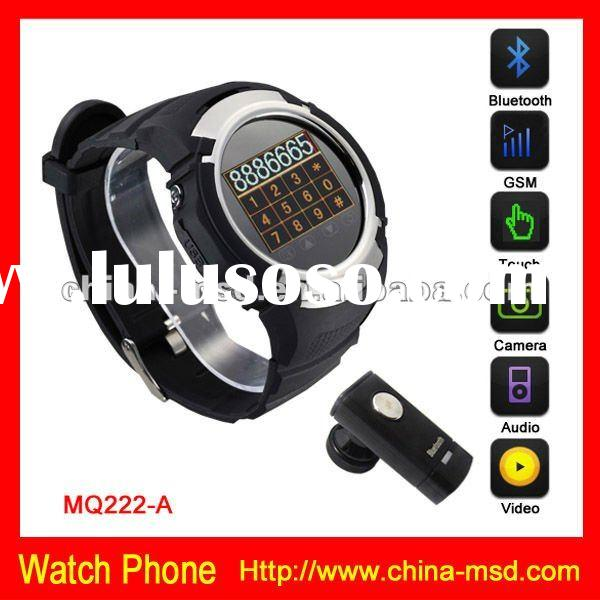 MQ222 GSM quad band Unlocked touch screen watch phone with CE