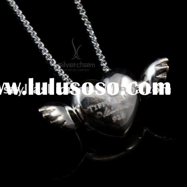 Mix & Match: 925 Sterling Silver Angel Wings Pendants Necklace NA110-1