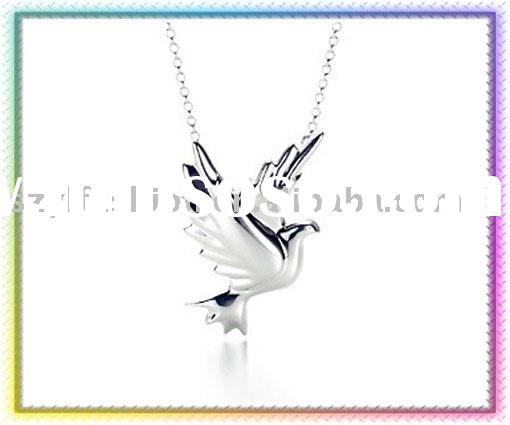Mix & Match: 925 Sterling Silver Peace Pigeon Pendants Necklace NA316