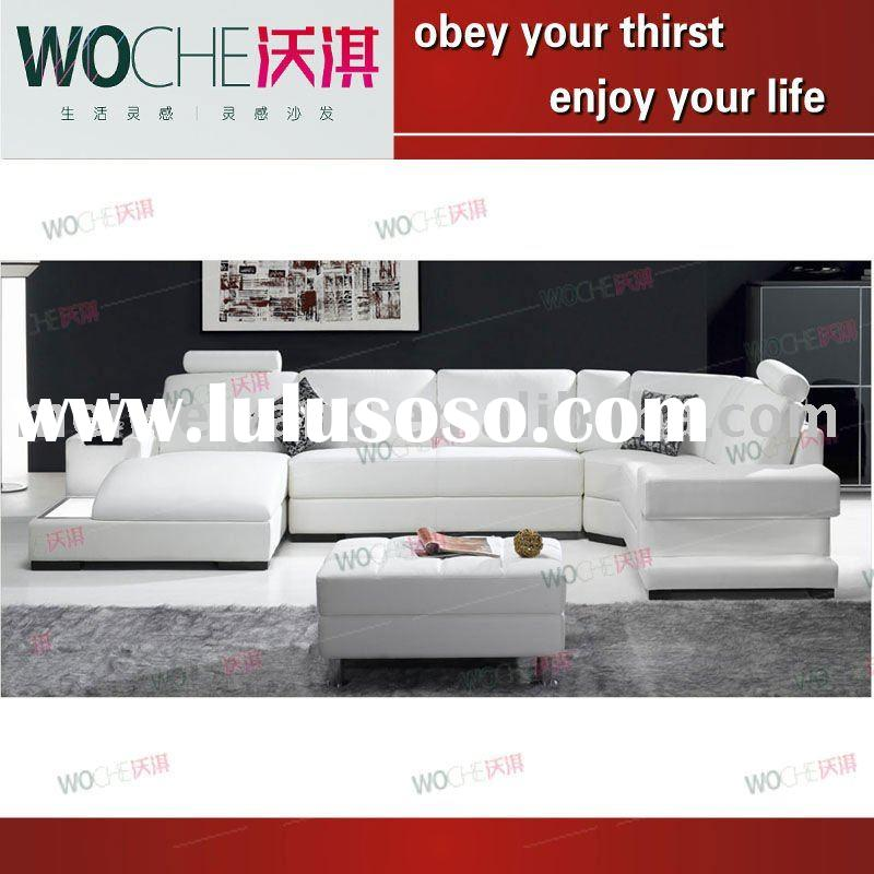 Modern top grade living room furniture Leather Sofa (H2305)
