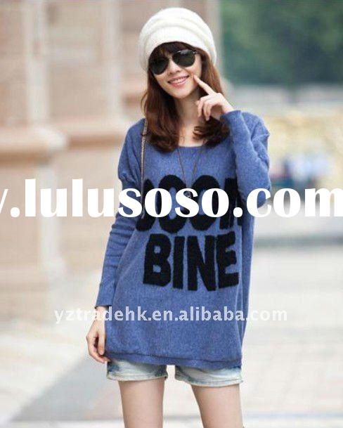 NEW style korean casual designs hot sale women woollen sweater wholesale and retail dress wh180