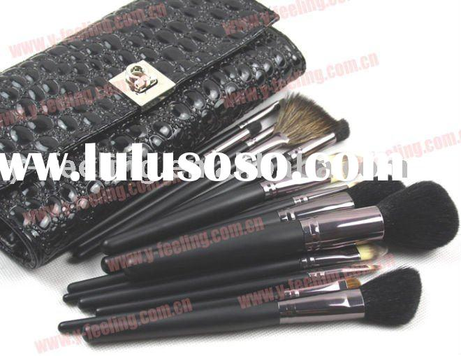 New 15 pcs Black Deluxe Makeup Brush Set