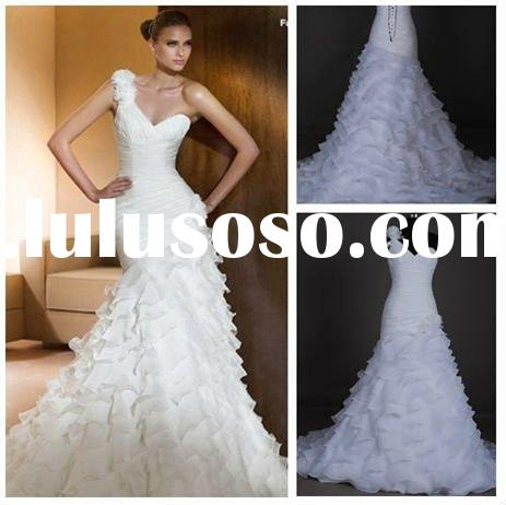 New arrival hot sale real sample bridal gown 2012