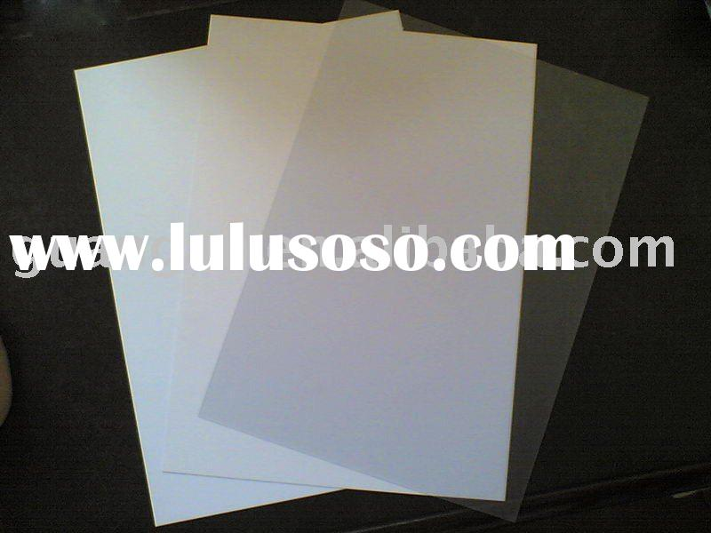 No-Laminated flexible transparent pvc plastic sheet