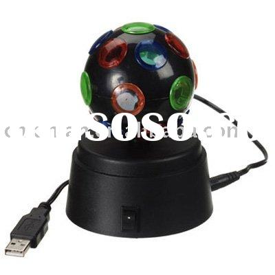 Novelty USB Disco Ball with Multi-color LED Light, USB Disco Ball, USB LED Light, USB Gadget