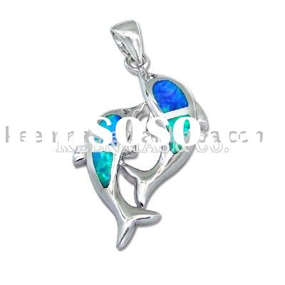Ocean sieries jewelry!Wholesale sterling silver pendant with opal in different styles, OEM &ODM