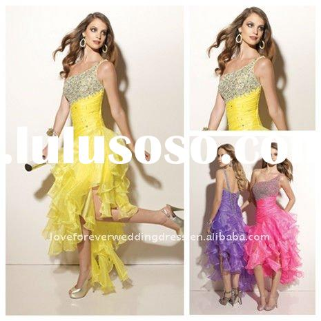 One-shoulder Tea-length Prom Dresses and Gowns 2012