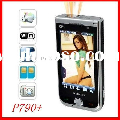P790+ Quadband Cell phone with projector & WIFI &TV