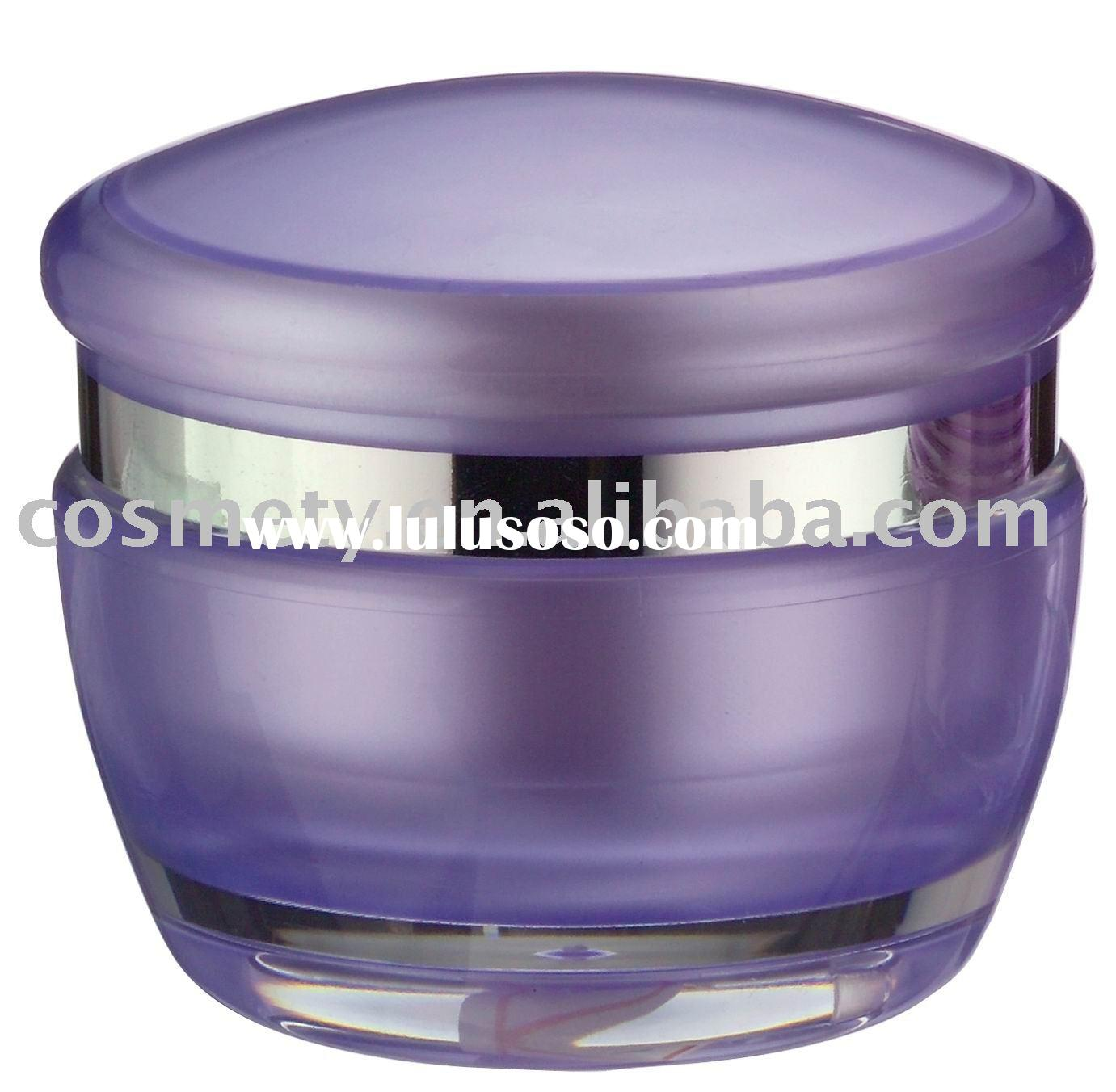 PMMA Material Round Shape Skin Care Cream Jar Packaging