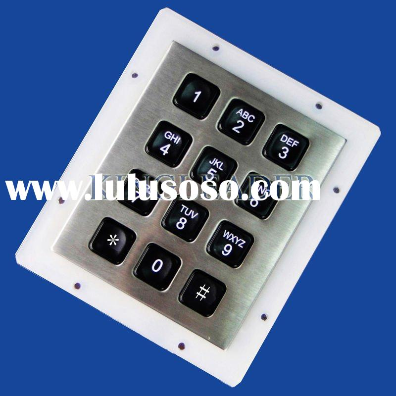 Panel mount rugged backlight keypad with 16 back-lit/illuminated keys