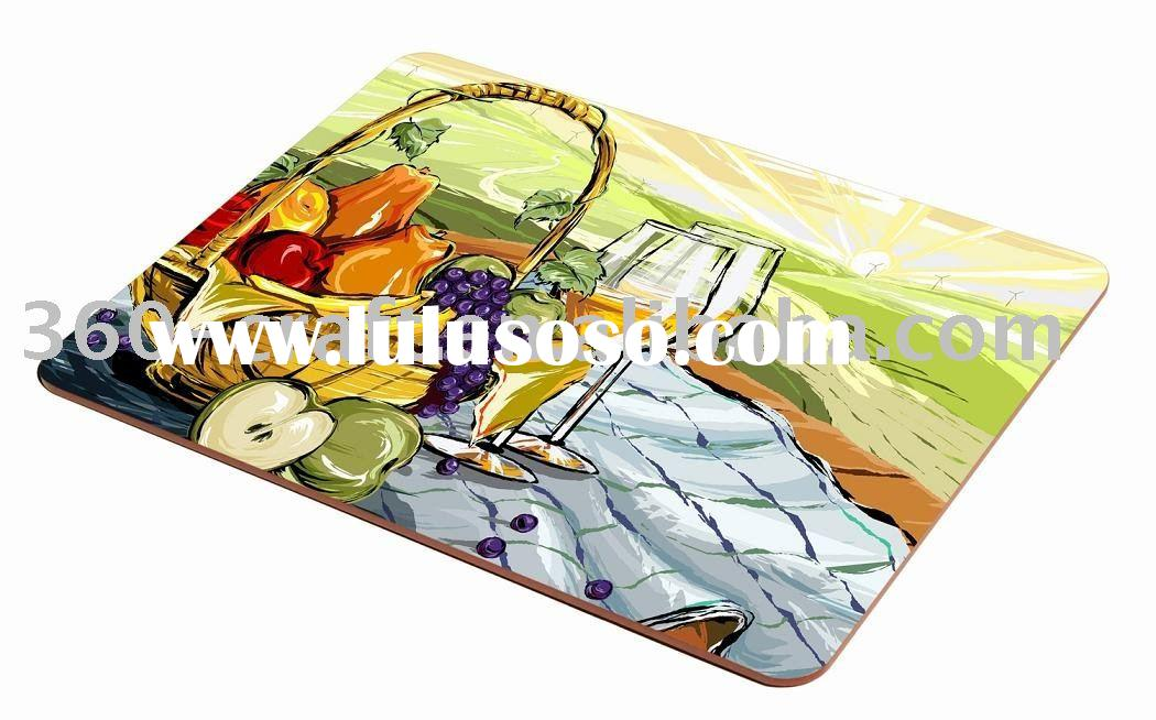 Pantone Color Printing cork backed placemat