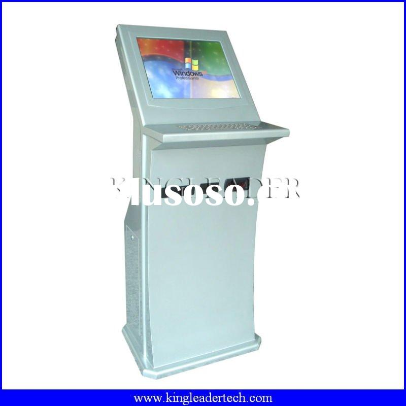 Payment kiosk with note acceptor,cardreader,thermal printer and metal keyboard
