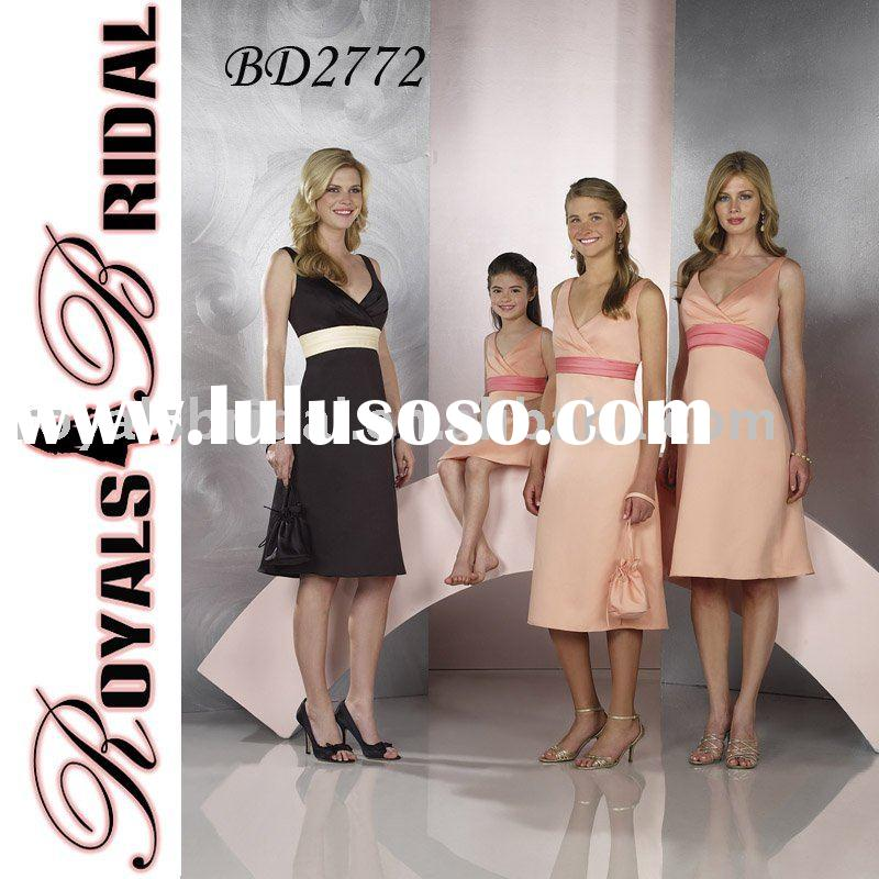 Pink Elegant Hot Sale Off-Shoulder Bridesmaid Dress BD2772