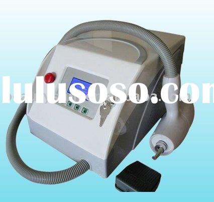 Portable ND-YAG Laser tattoo removal machine- with ruby Q switch, CE approved