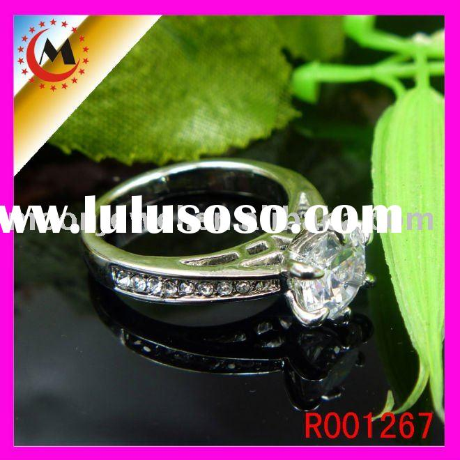 Princess-Cut Diamond Engagement Ring in 14K White Gold R001267