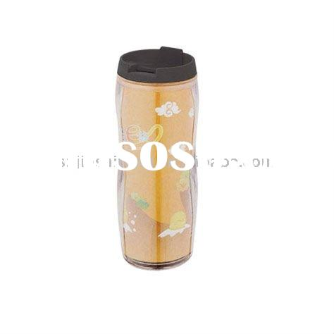 Promotional plastic advertising travel / coffee mug, FDA approved BPA free tumbler