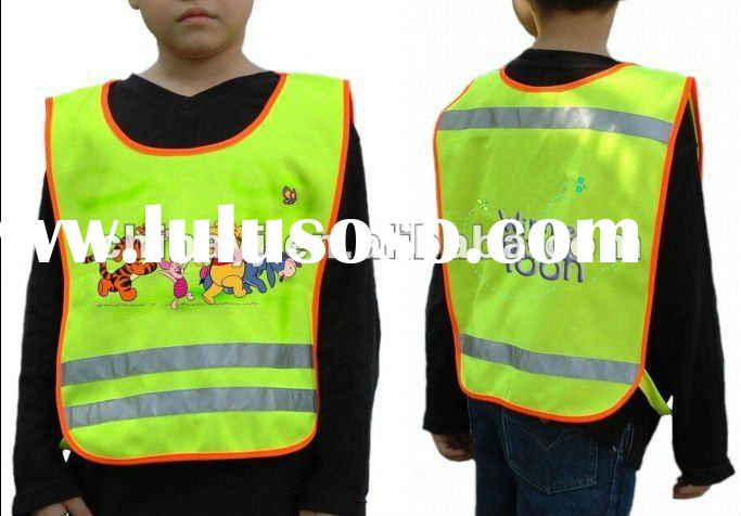 Pullover Lovely Children Reflective Safety Vest with Cartoon Pictures YJV-011C