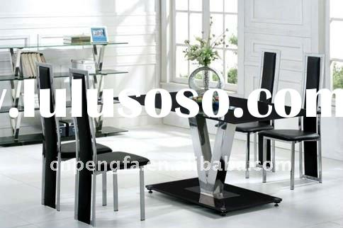 Quality Tempered Glass Dining Table Stainless Steel Leg Dining Room Furniture Dining Tables