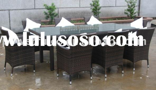 Rattan dining table set wicker dining table set Garden dining table