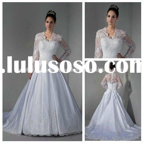 Real Sample Hot Sale 2012 Long Sleeve Wedding Dresses