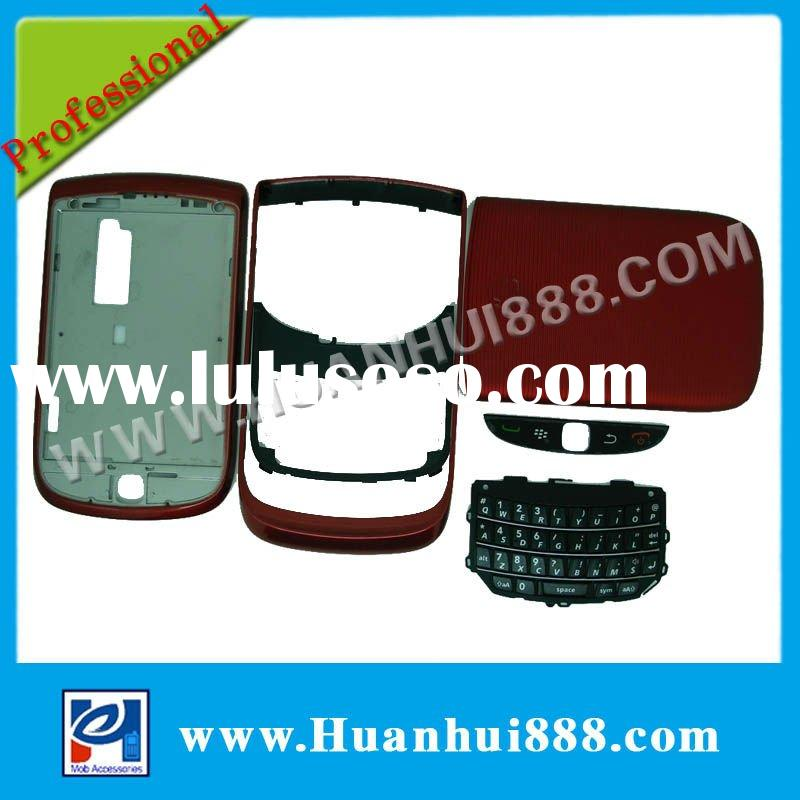 Red good quality full parts mobile phone accessories for blackberry torch 9800