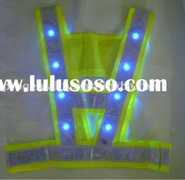 Reflective Safety Vest with LED Flashing