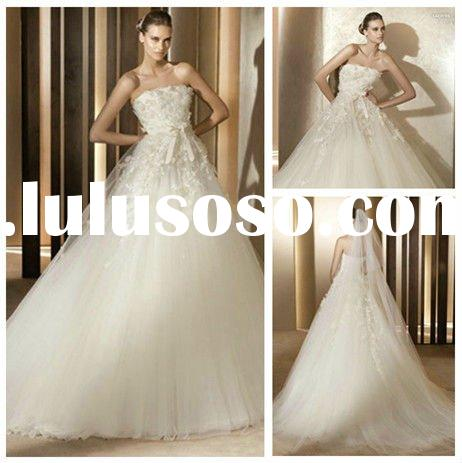 Romantic Tulle Lace Ball Gown Bridal Wedding Dresses