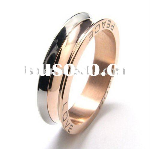 Romantic stainless steel jewelry,ring for women