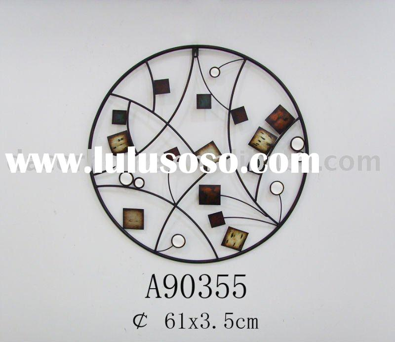 Round Wall Decor with Small Round Mirrors
