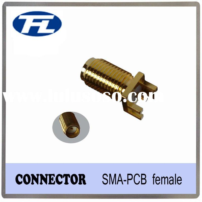 SMA female right-angle connector for PCB mount