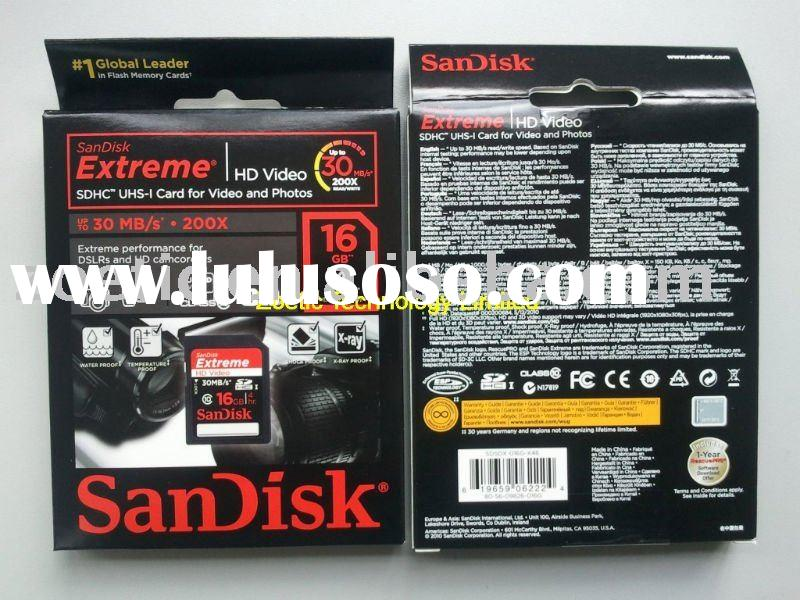 SanDisk 16GB Extreme HD Video SDHC Card Class 10 30MB/s ,video hd sdhc card,video hd card#SDSDX-016G
