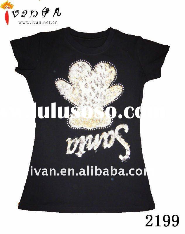 Short Sleeve Fashion Black Cheap T shirt