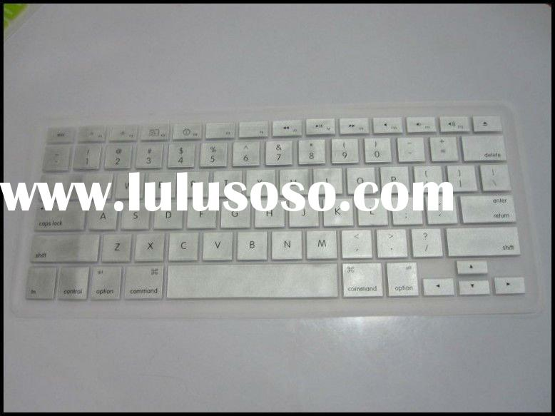 Silicone Keyboard Cover Skin for New Mac Book - Silver