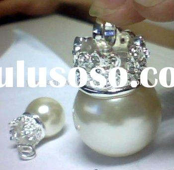 Silver Fashion Jewelry on Hot sale/Crown on pearl pendant