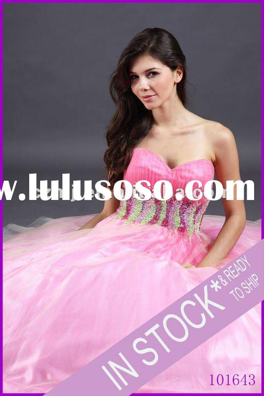 Spring 2012 new arrival Strapless sweetheart ball gown prom dress
