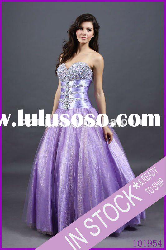 Spring 2012 new arrival lace up strapless ball gown prom dress