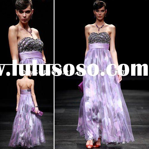 Spring Fashion Strapless Sweetheart Printed Evening Dress
