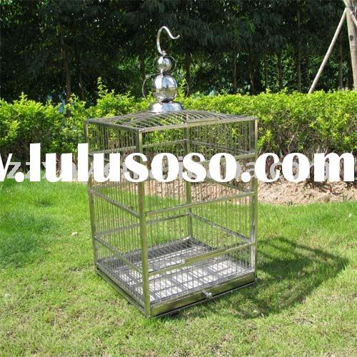 Square bird cage/stainless steel bird cage/metal bird cage/birdcage