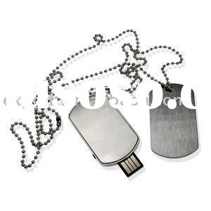 Stainless Steel Dog tag , Choker , Necklace Jewelry USB flash drive