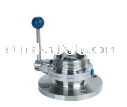 Stainless steel Sanitary Flanged Butterfly Valve