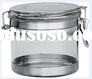 Stainless steel and plastic storage container