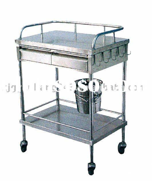 Stainless steel surgical instrument trolley