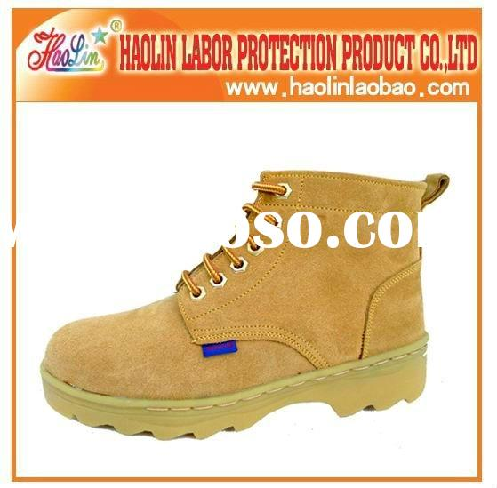 Steel toe brand buffalo leather safety shoes HL-A035