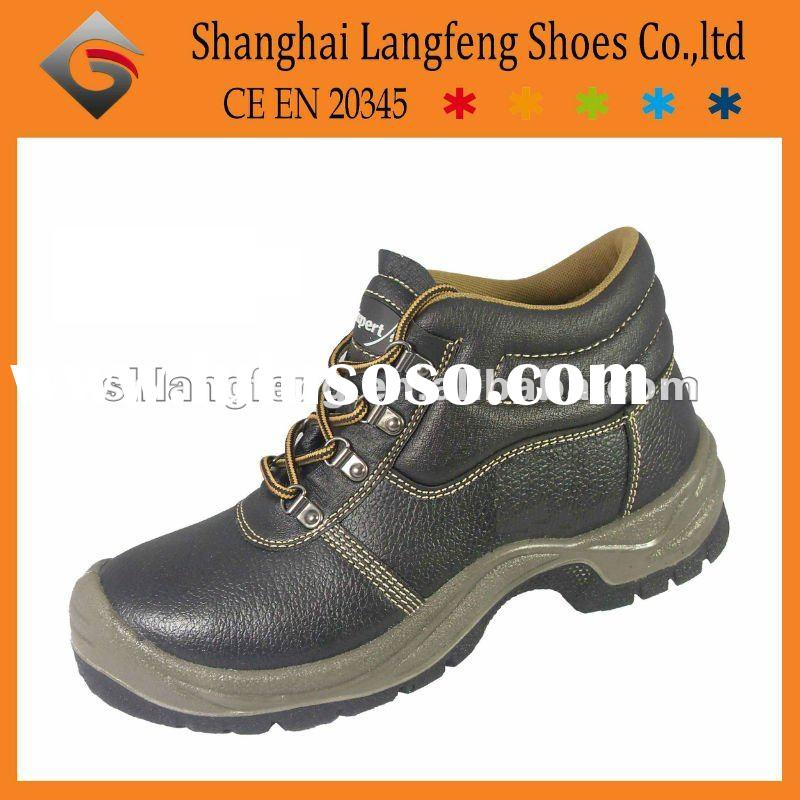 Steel toe leather safety shoe