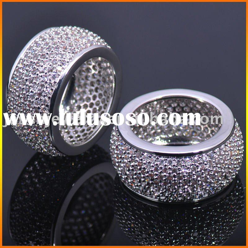 Sterling silver Hip Hop Jewelry CZ Rings